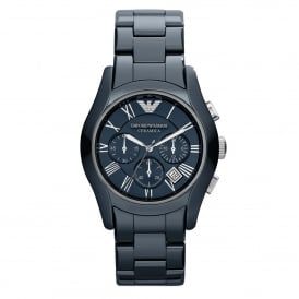 Armani Watches AR1469 Dark Blue Ceramic Chronograph Watch