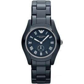 Armani Watches AR1471 Silver & Blue Ceramic Ladies Watch