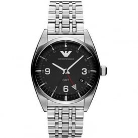 Armani Watches AR1627 Black & Silver Stainless Steel Mens Watch