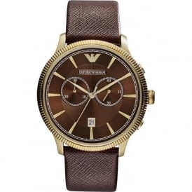 Armani Watches AR1793 Brown & Gold Chronograph Men's Watch
