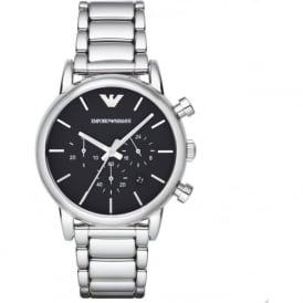 Armani Watches AR1853 Black & Silver Chronograph Mens Watch
