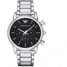 Armani Watches AR1894 Black Chronograph & Silver Stainless Steel Mens Watch