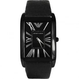 Armani Watches AR2060 Armani Black Leather Men's Watch