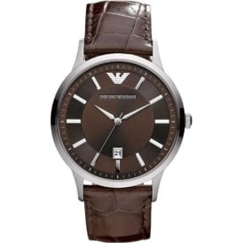Armani Watches AR2413 Armani Brown Leather Men's Watch