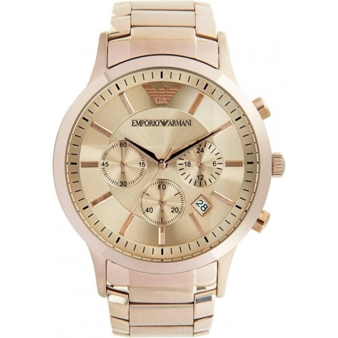 Emporio Armani AR2452 mens rose gold watch | cheapest ...