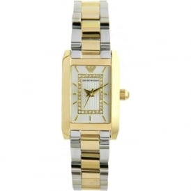 Armani Watches AR3171 Ladies Silver and Gold Stainless Steel Watch