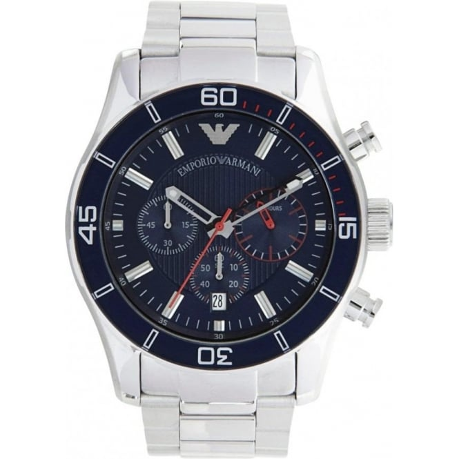 Armani Watches AR5933 Gents Silver Stainless Steel Watch