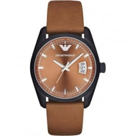Armani Watches AR6080 Men's Sportivo Brown Leather Dress Watch