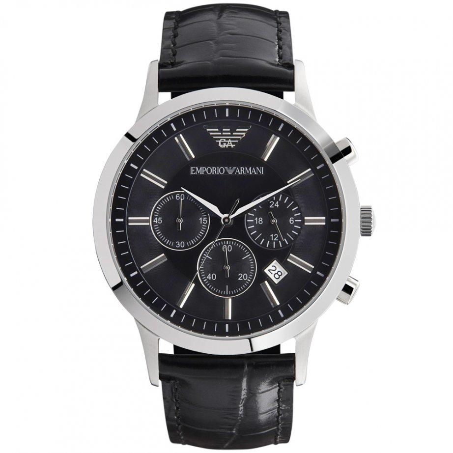 emporio armani black chronograph ar2447 uk