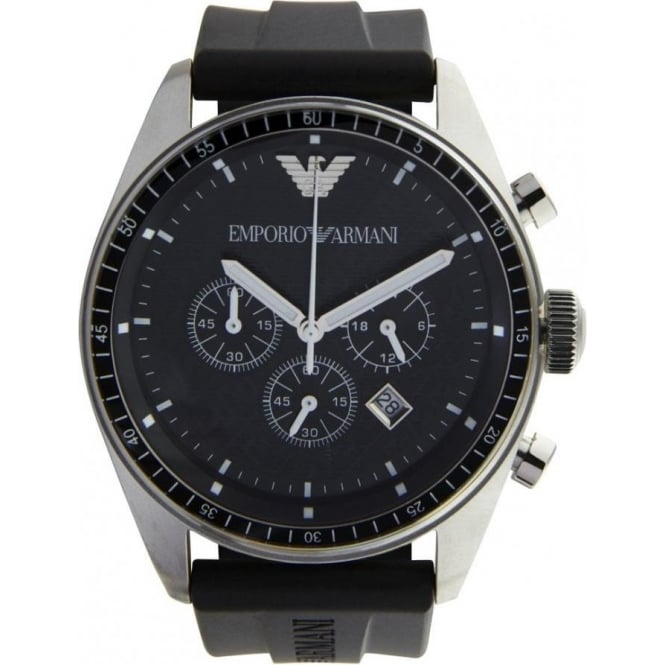 Armani Watches Black Mens Chronograph Watch AR0527