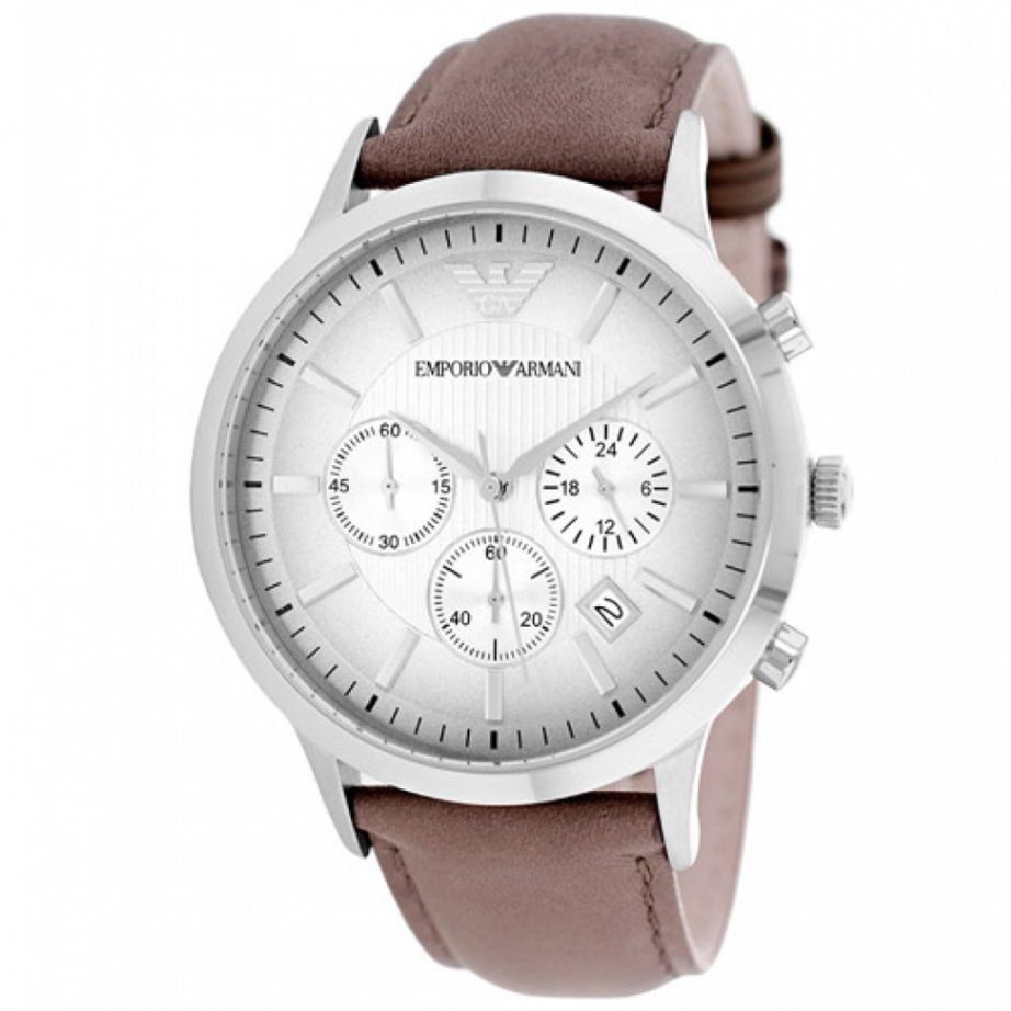 brown leather mens chronograph ar2471