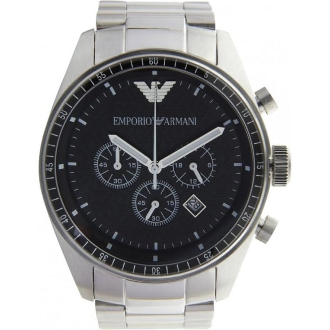 Armani Watches Classic Stainless Steel Mens Chronograph Watch AR058