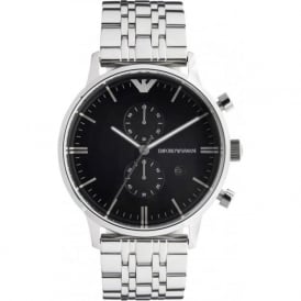Armani Watches Emporio Armani Gianni Watch AR0389 Mens Black Steel Watch
