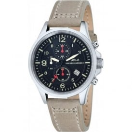 AV-4001-03 Hawker Harrier II Grey Leather Chronograph Watch