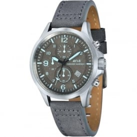 AV-4001-07 Hawker Harrier II Grey on Grey Leather Chronograph Watch