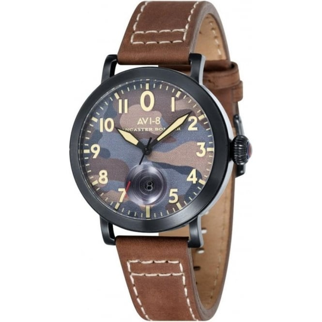 AVI-8 AV-4020-06 Lancaster Bomber Camo & Brown Leather Watch