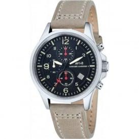 AVI-8 AV-4001-03 Hawker Harrier II Grey Leather Chronograph Watch
