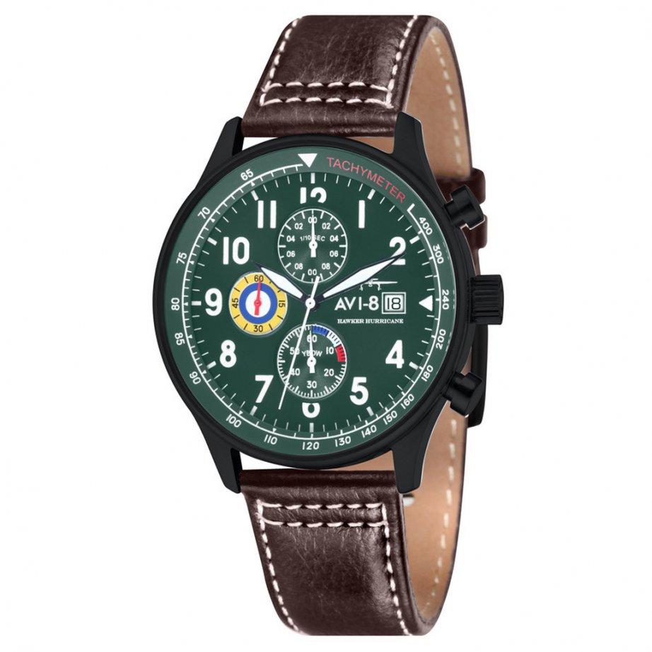 avi 8 av 4011 05 hawker hurricane green brown leather