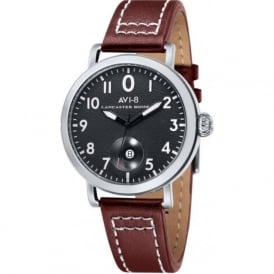AVI-8 AV-4020-01 Lancaster Bomber Black & Brown Leather Watch