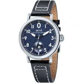 AVI-8 AV-4020-03 Lancaster Bomber Blue & Black Leather Watch