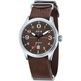 AVI-8 AV-4021-02 Flyboy Brown Leather Nato Automatic Watch