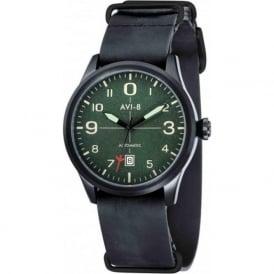 AVI-8 AV-4021-05 Flyboy Green & Black Leather Nato Automatic Watch