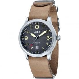 AVI-8 AV-4021-07 Flyboy Grey & Beige Leather Nato Automatic Watch