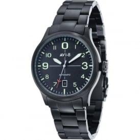 AVI-8 AV-4021-13 Flyboy Black Steel Automatic Watch