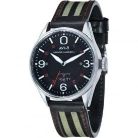 AVI-8 AV-4040-01 Hawker Harrier II Black Leather Automatic Watch