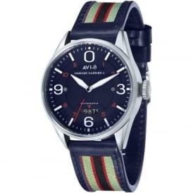 AVI-8 AV-4040-03 Hawker Harrier II Blue Leather Automatic Watch