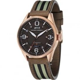 AVI-8 AV-4040-05 Hawker Harrier II Rose Gold & Brown Leather Automatic Watch