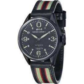 AVI-8 AV-4040-06 Hawker Harrier II Black Steel & Black Leather Automatic Watch