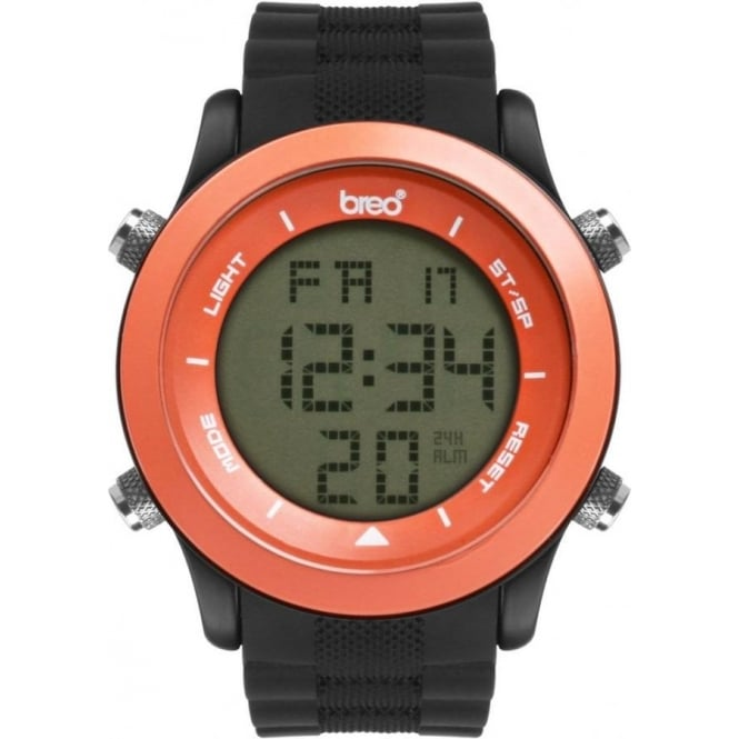 Breo Watches Orb Black and Orange Digital Watch B-TI-ORB71