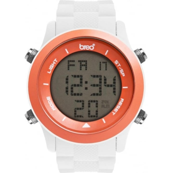 Breo Watches Orb White and Orange Digital Watch B-TI-ORB81