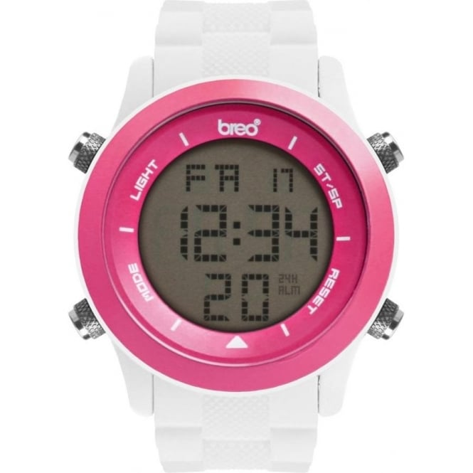 Breo Watches Orb White and Pink Digital Watch B-TI-ORB83