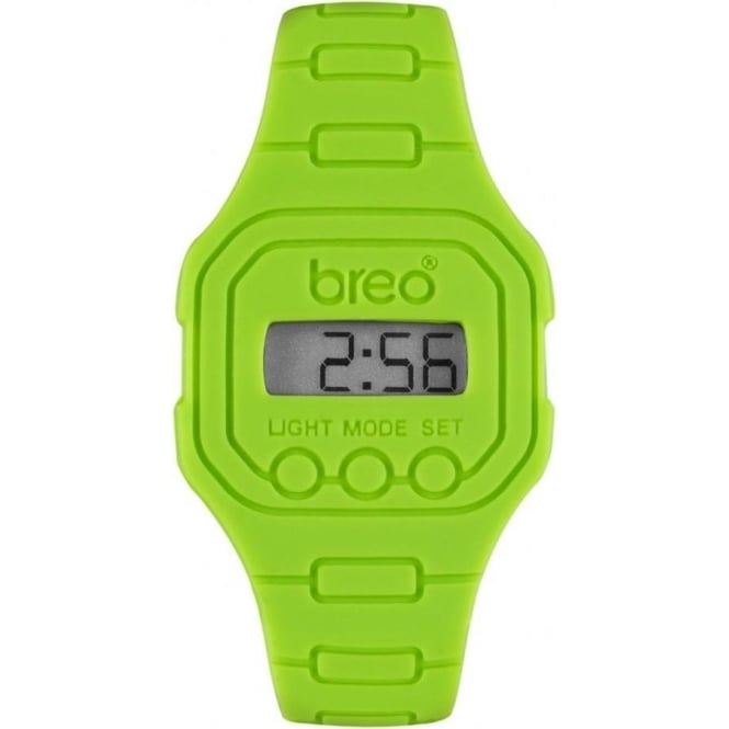 Breo Watches Digital Lime Green Spectrum Breo Watch B-TI-TD15