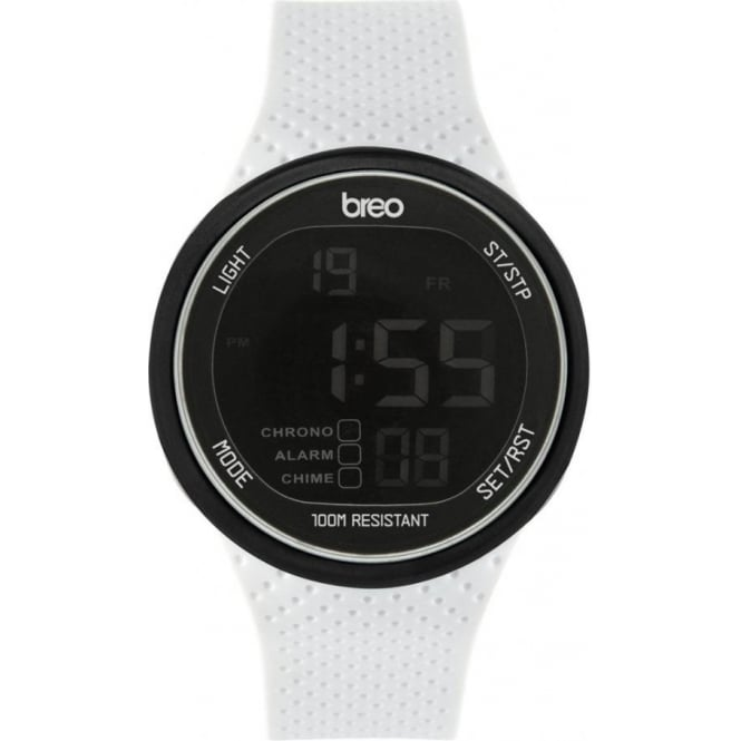 Breo Watches White Digital Trak Watch B-TI-TRK8
