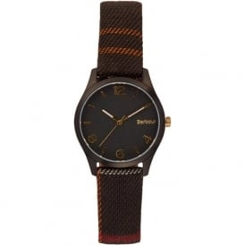 Barbour BB002BKTR Afton Black Tartan Fabric Ladies Watch