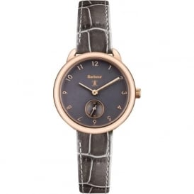 Barbour BB035RSGY Whitley Rose Gold & Grey Leather Ladies Watch