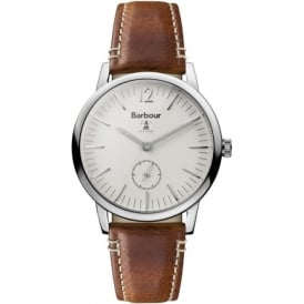 BB041BGBR Seaton White & Brown Leather Men's Watch