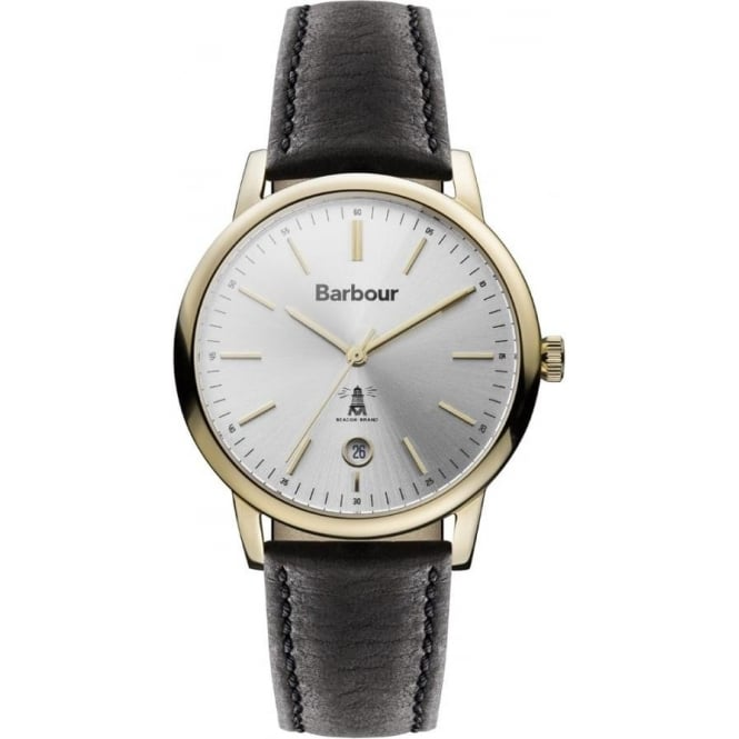 Barbour BB041SLBK Seaton Gold & Black Leather Men's Watch