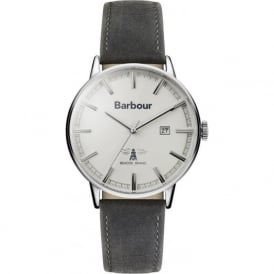 BB043WHGY Whitburn Cream & Grey Leather Men's Watch