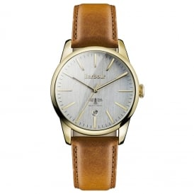 BB049GDBR Leighton Gold & Tan Leather Watch
