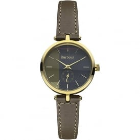 Barbour BB011GDGR Lisle Womens Grey Leather Watch