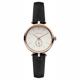 BB011RSBK Lisle Ladies Black Leather Watch