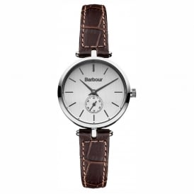 BB011SLBR Lisle Silver & Brown Leather Ladies Watch