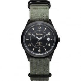 Barbour BB017BKGR Redley Sport Green Fabric Watch