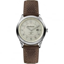 Barbour BB017CPBR Walker Mens Brown Leather Watch
