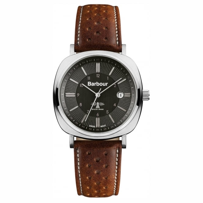 Barbour BB018SLTN Barbour Beacon Mens Leather Watch