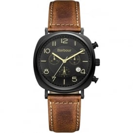 BB019BKTN Beacon Chrono Mens Brown Leather Watch
